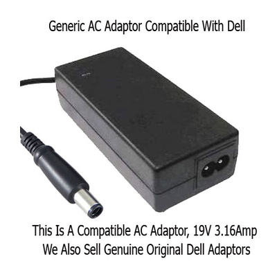 Sumvision  Compatible AC Adaptor charger 19V / 3.19A For Dell Laptops