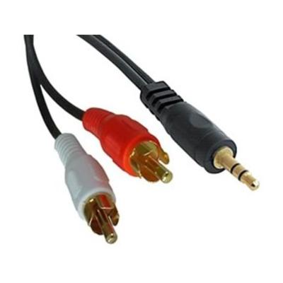 Generic  3.5mm Stereo Plug - 2x RCA Plug, 0.5 Mtr
