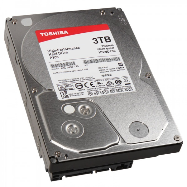 Toshiba  3Tb 3.5 Inch High-Performance Hard Drive 7200 Prm, 64Mb Cache