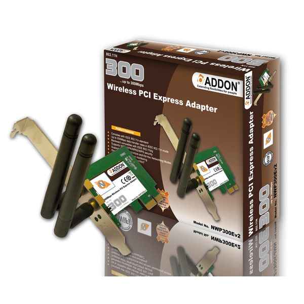 Addon NWP310Ev4 300Mbps PCI Express Wireless N Adaptor ( PCI-E )