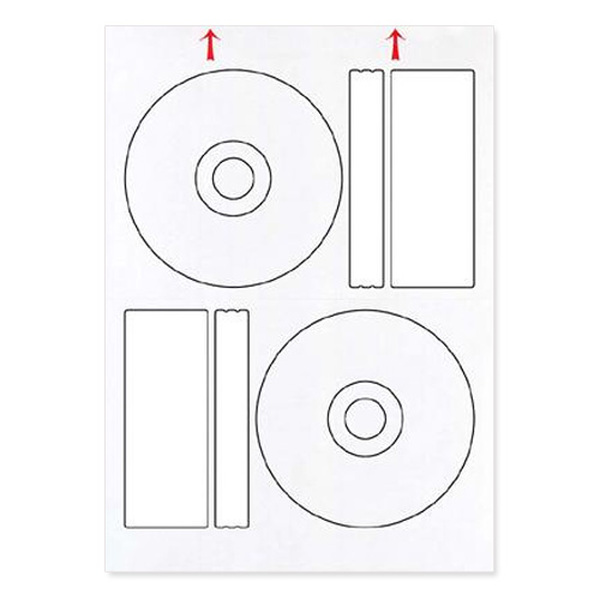 Mirror  Matt Standard Offset Lables (100 sheets) (200 labels) White