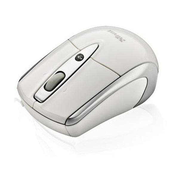 Trust  Retractable Laser Mini Mouse For Mac or PC - White RRP £15.95 - Clearance Sale