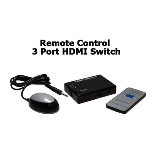 Dynamode  3 to 1 HDMI Switch with Remote Control