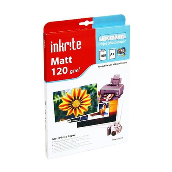 Inkrite  Photo Plus Matt Paper 120gsm A4 x100 Sheets