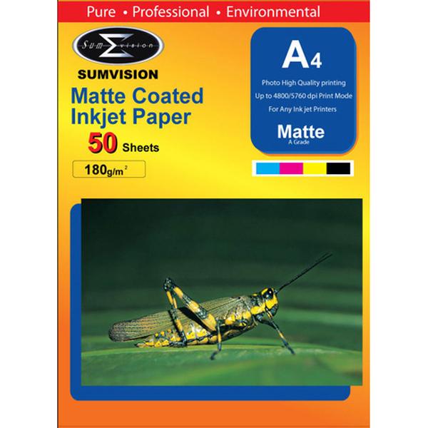Sumvision  180 Gm Matt A4 - 50 Sheets