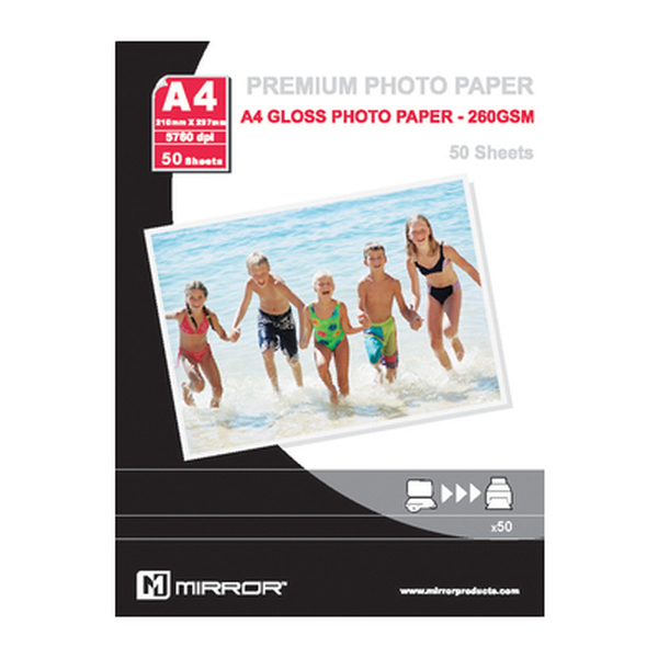 Mirror  260 Gm Gloss Resin Coated Paper A4 - 50 Sheets