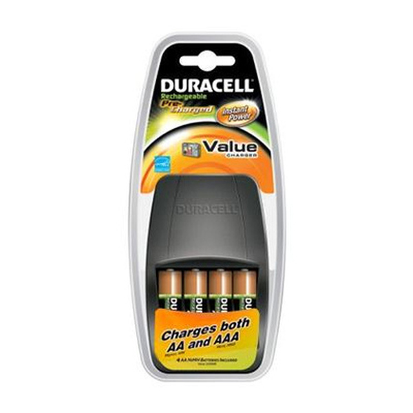 Duracell  Value Pack Charger And 4X Batteries