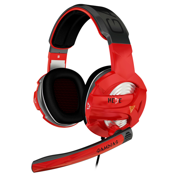 Gamdias  Hebe Virtual 7.1 USB Gaming Headset - Red/Black