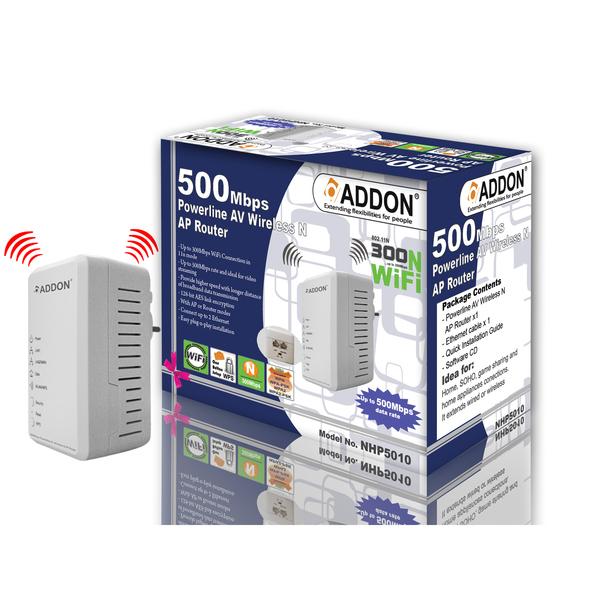 Addon  500Mbps Power Line AV Wireless AP Router