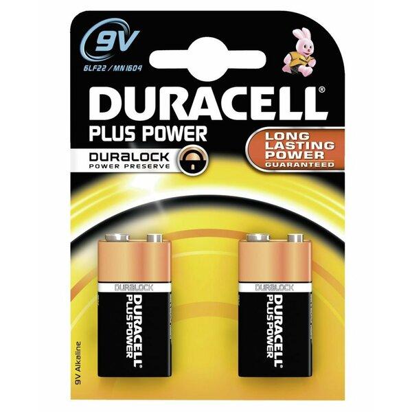Duracell  Duracel Plus Power 9v Battery 2 Pack