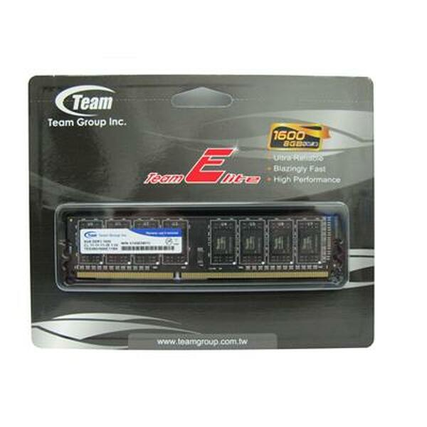 Team Group  8Gb 1600Mhz DDR3 (1x 8GB) -1600MHz - Retail