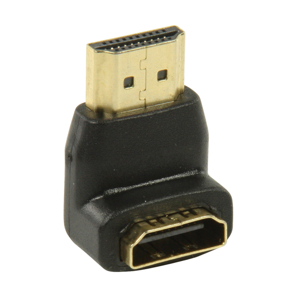 Value Line  HDMI adapter HDMI connector 90° angled - HDMI input black