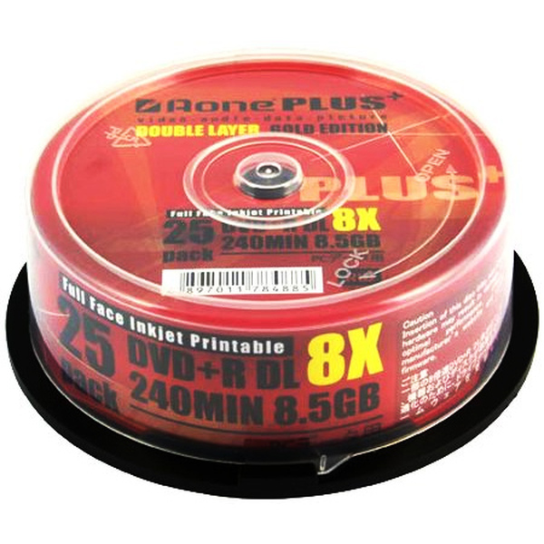 Aone  DVD+R 8x 25 Pack Dual Layer 8.5gb  With UMECode - Overburn