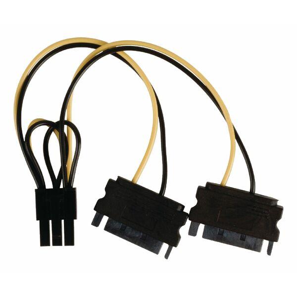 Value Line  Internal power splitter cable PCI Express female - 2x SATA 15-pin male 0.15
