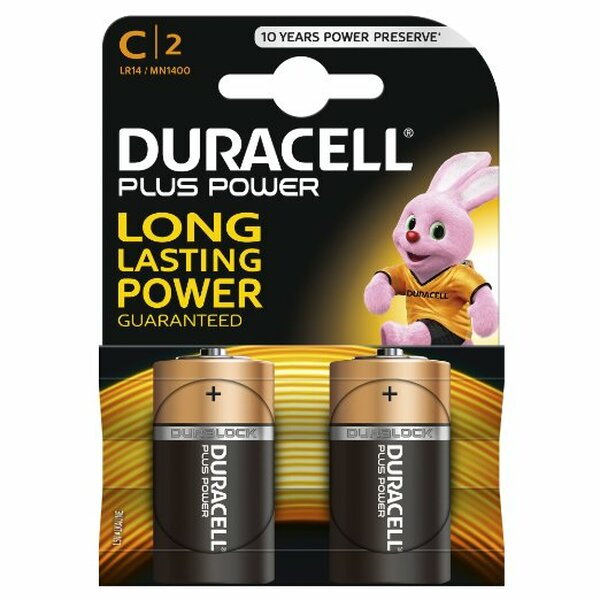 Duracell  Duracell Plus Power C Size (2 Pack)