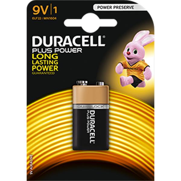 Duracell  Duracell Power Plus long lasting 9V Battery (single)