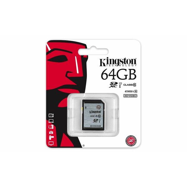 Kingston  64GB SDXC SD Flash Card (Class 10) 45MB/PS READ