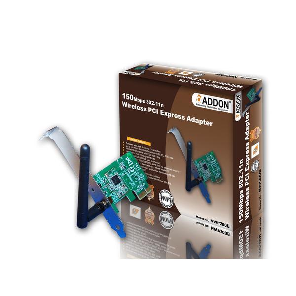 Addon NWP200E/11n 150Mbps PCI Express Wireless N Lite Adaptor
