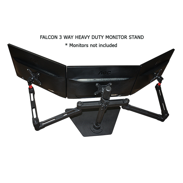Fronnar  3 Way Triple Monitor Arm / Monitor stand Heavy Duty up to 29` 10kg Screens!