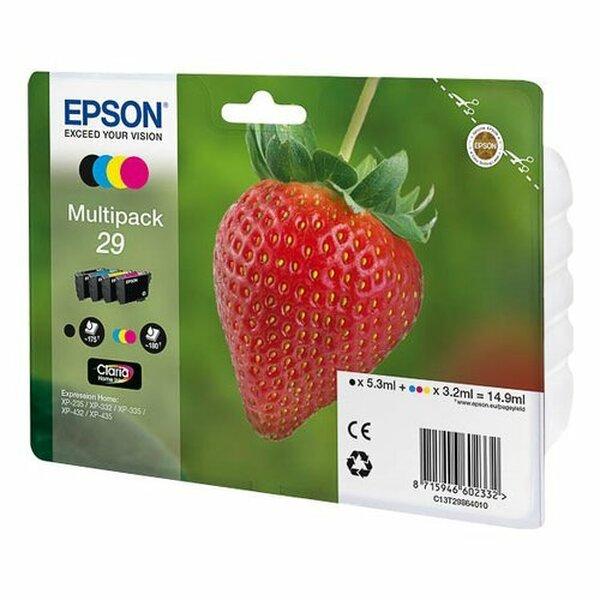 EPSON  29 Claria Home Strawberry Multipack Ink Cartridge - Black/Cyan/Magenta/Yellow