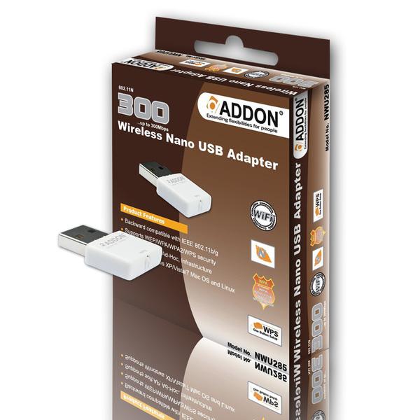 Addon  300Mbps Wireless NANO USB Adaptor
