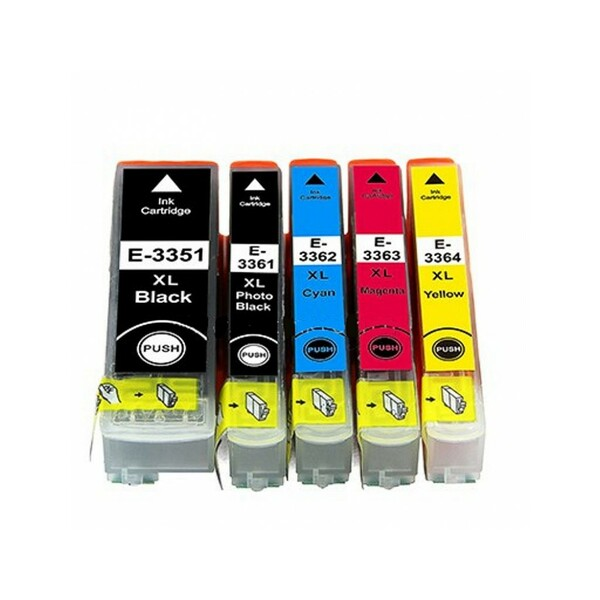 Compatible Inks  Set Of 5 Cartridges Orange Compatible 33 XL Full Set