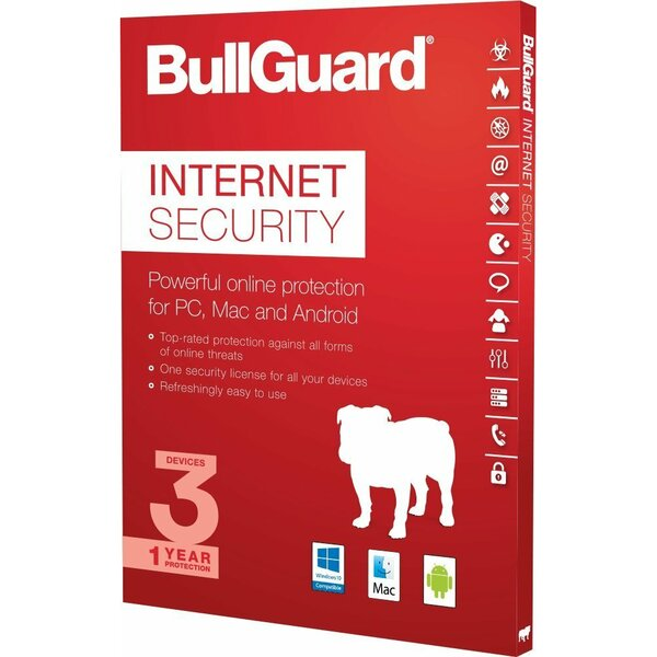 Bullguard Bull Guard BG2112 Bullguard Internet Security 2020 Retail, 3 User, Multi Device License PC, MAC and Android