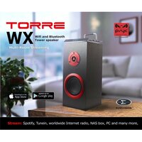 Psyc  Torre WX Wi-Fi / Bluetooth Mini Tower Speaker 20w