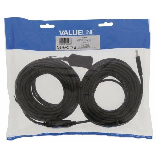 Value Line  Active USB 2.0 Extension Cable A Male - A Female 20.0 m Black