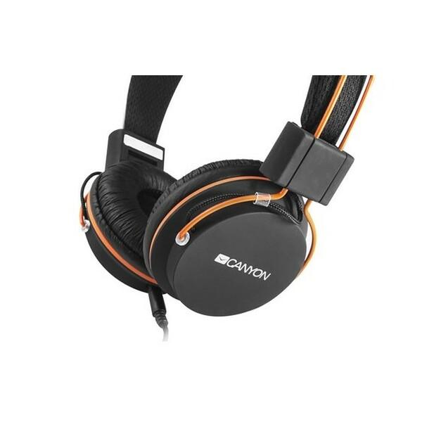 Canyon  Fold away Headset - Black And Orange