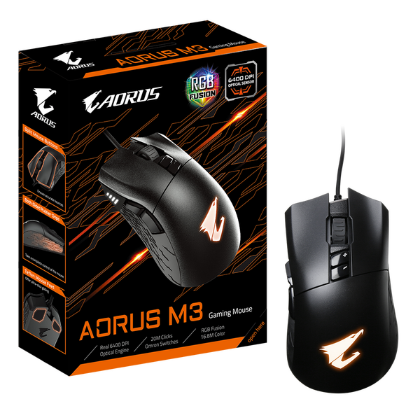 Gigabyte  6400 DPI Optical RGB Gaming Mouse