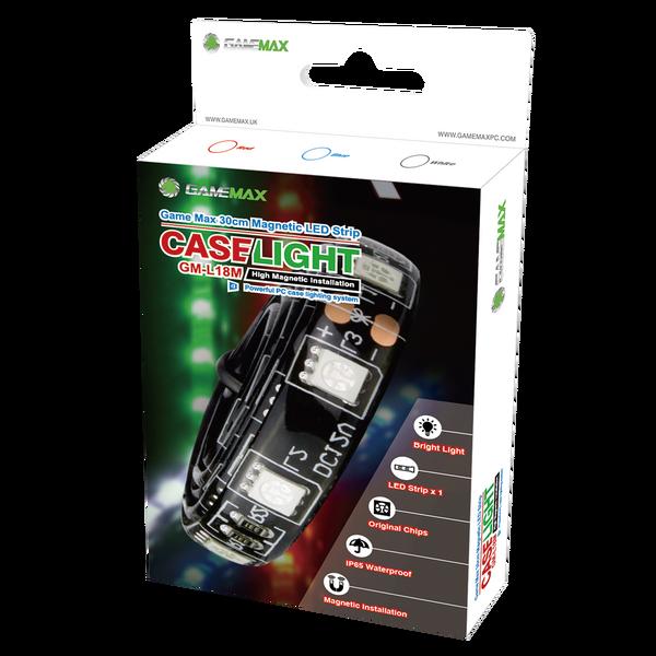 GameMax Game Max  30cm Magnetic LED Strip - Red - 18 LED