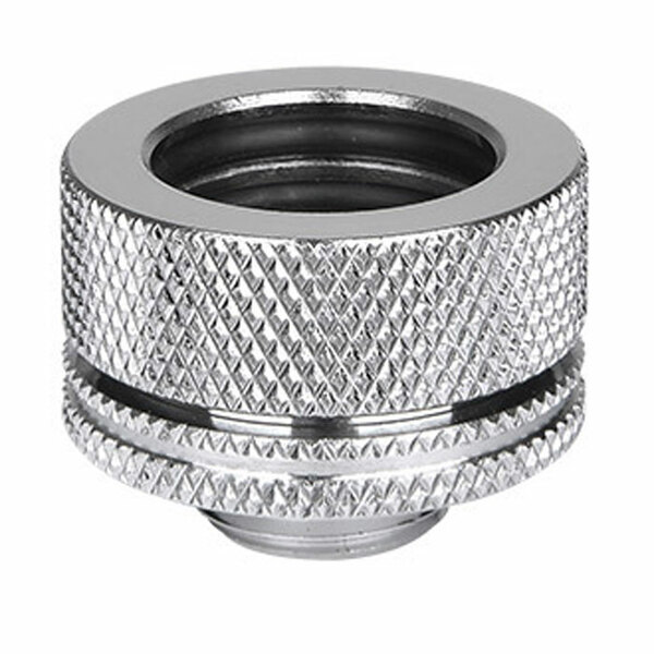 Thermaltake  Pacific PETG Tube 16mm OD Chrome Compression Fitting from Thermaltake