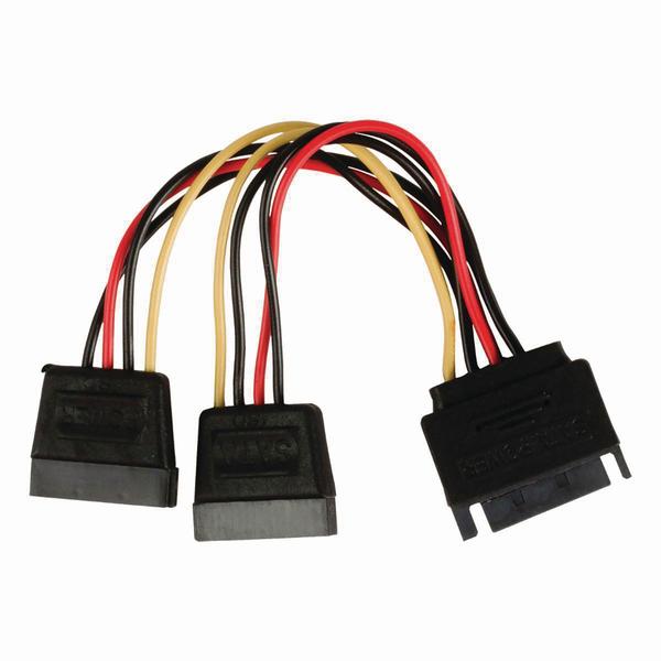 Value Line  Internal Power Cable SATA 15-Pin Male - 2x SATA 15-Pin Female 0.15 m