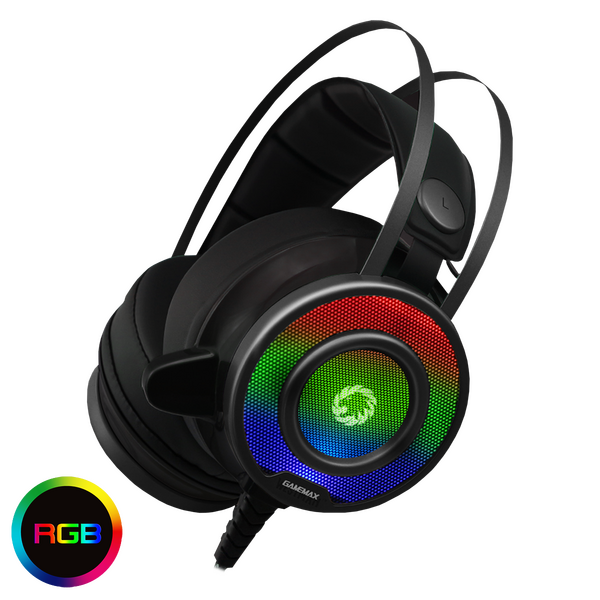 GameMax GMXHEADSETG200 G200 Gaming Headset and Mic With RGB Lighing - BLACK FRIDAY DEAL