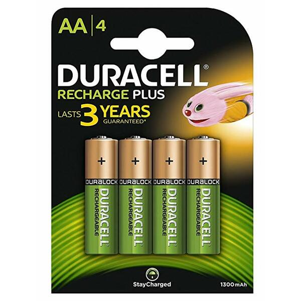 Duracell  Rechargeable AA 1300mAh - 4 Pack
