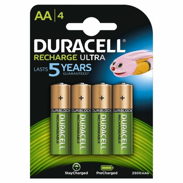 Duracell  Ultra Rechargeable AA 2500mAh - 4 Pack