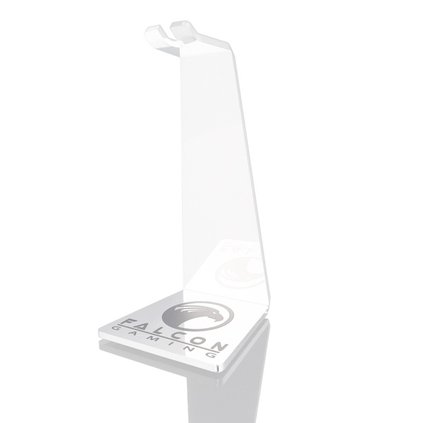 Falcon Value  Acrylic Head Phone Holder / Mouse Bungee - White Edition