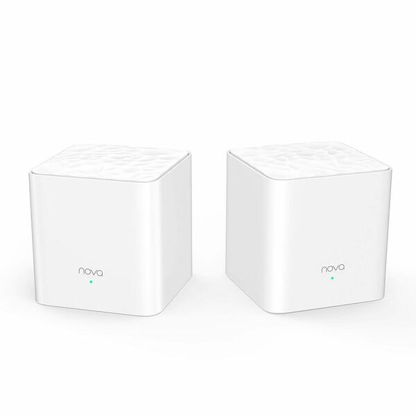 Tenda Nova MW3-2 Whole Home Mesh Wi-Fi System; Get Rid of Wi-Fi Dead Zones; 2500sq² Wi-Fi Coverage, Two Fast Ethernet Ports, App Control, Parental Controls, Easy Set Up, Pre Configured (Pack of 2)