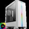 GameMax  Solar White RGB Midi Tempered Glass Gaming Case MB SYNC 3 pin Image