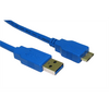 Generic  USB 3.0 Cable A Male - Micro B Male Round 2.00 m Blue Image