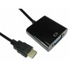 Generic  HDMI To Svga, 15Cm, Black (No Audio) Image