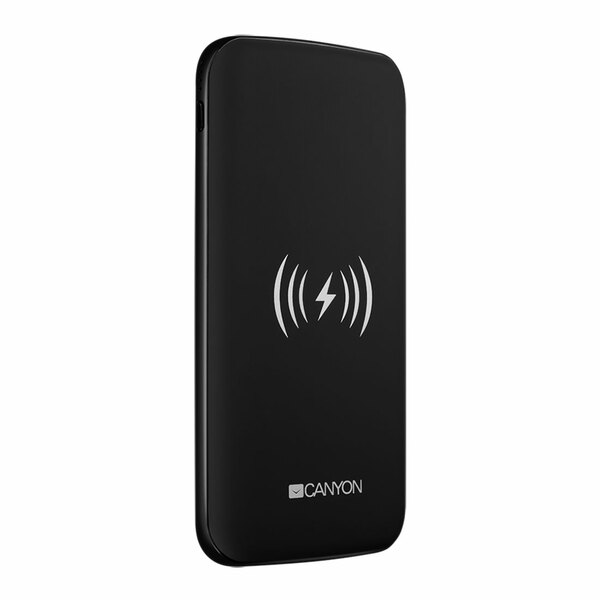 Canyon  8000mAh Powerbank USB-C/Micro-USB and With Wireless Charging - Black