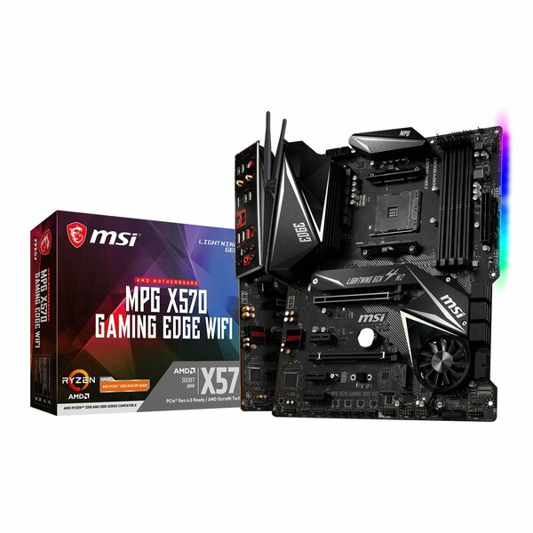 MSI MPG X570 GAMING EDGE WIFI AMD Ryzen MPG-X570-GAMING-EDGE-WIFI Motherboard