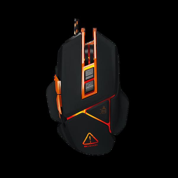 Canyon  Hazard USB Gaming Mouse - Black / Orange