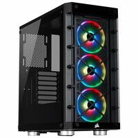 Corsair  iCUE 465X RGB Tempered Glass Mid-Tower ATX Smart Case (Tempered Glass)  3x LL120 RGB Coolers included) - Black