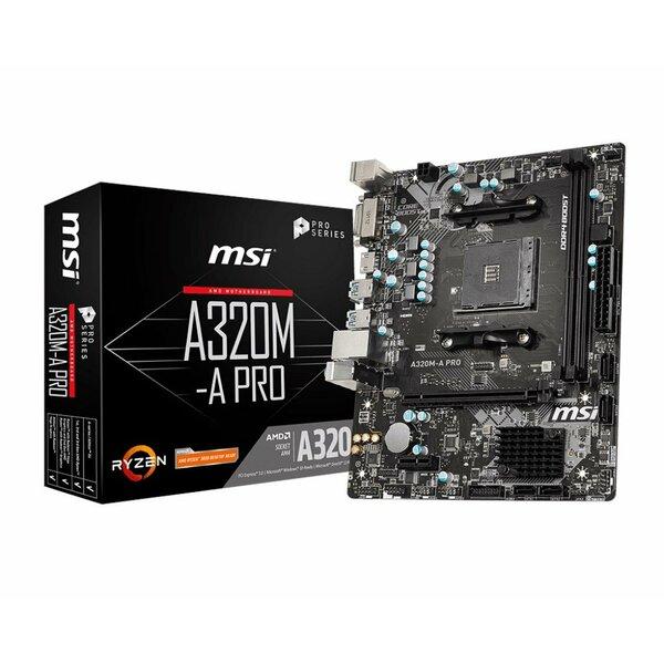 MSI 320M-A PRO AMD A320 (Socket AM4) RYZEN 3 Ready DDR4 Micro ATX Motherboard