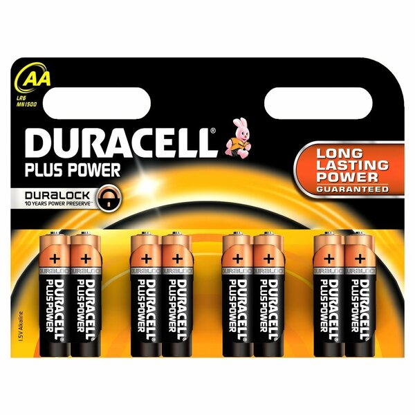 Duracell  Plus Power AAA 5 + 3 Free Pack