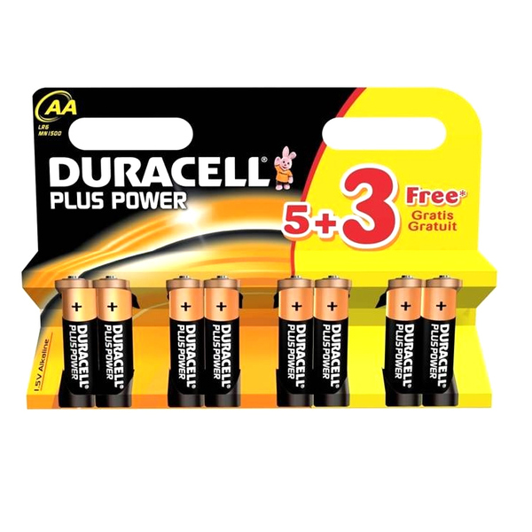 Duracell MN1500B58 Plus Power AA 8 Pack