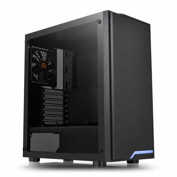 Thermaltake CA-1L4-00M1WN-02 H100 Tempered Glass Mid Tower PC Case, 120mm Fan, USB 3.0 - Clearance - REDUCED